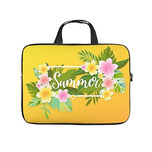 Tropical Leaf Flower Yellow Printed Laptop Case Sleeve Sleeve Slim Neoprene Laptop Bag Case Custom Laptop Sleeve Case Computer Accessories