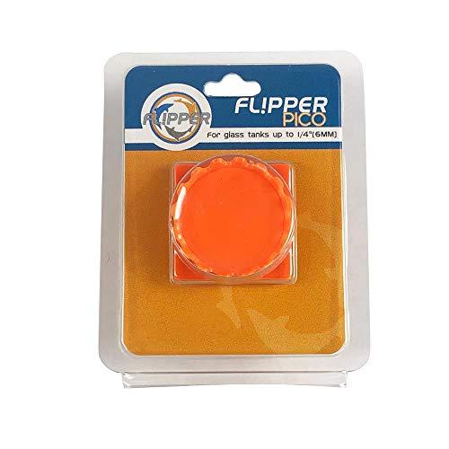 FL!PPER Flipper Pico 2 in 1 Magnetic Scrubber Scraper Aquarium Fish Tank Cleaner - Orange