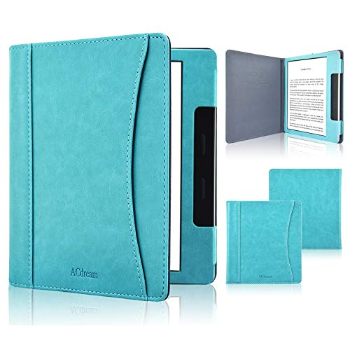 ACdream Case Fits All-New Kindle Oasis 2019, Folio Smart Cover Leather Case with Auto Wake Sleep Feature for Kindle Oasis (10th Generation, 2019 Release & 9th Generation, 2017 Release), Sky Blue