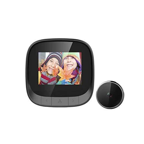 Mirilla digital con vídeo, timbre de puerta con cámara digital de 2,4...