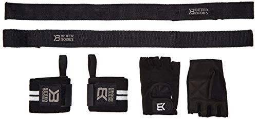 Better Bodies Fitness-Handschuhe, Kraftsporthandschuhe, Trainings-Handschuhe, Größe:XL;Farbe:schwarz