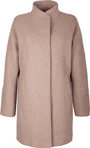 Grimada A70 Damen Business Mantel COOTIC mit Woll-Anteil und weitem Schnitt (44, Cappuccino)