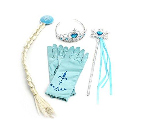 CoolChange Set pour Enfants pour Le déguisement de Elsa de la Reine des Neiges