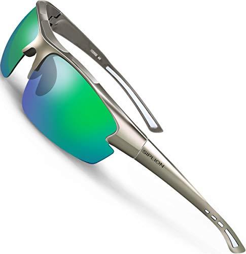 SIPLION Hombre Gafas de sol Polarizadas Deportes para Ciclismo Pesca Golf TR90...