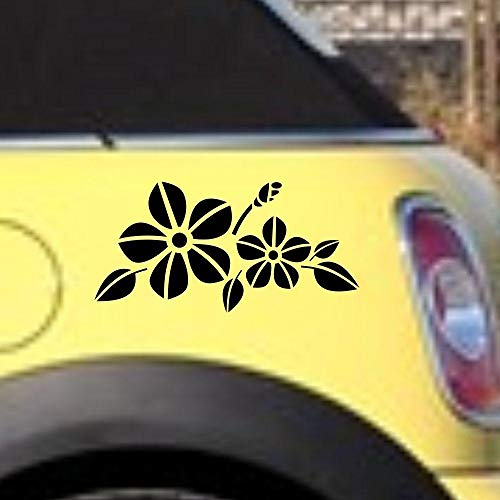 A/X Decoración Para coche 18x8 9 cm flores belleza tentación faro para capó calcomanía de tronco pegatina gráfica de vinilo-Azul