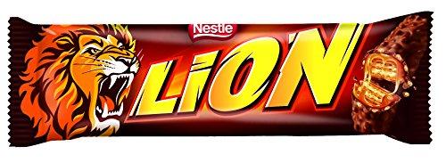 Nestlé LION Chocolate y Caramelo - Barritas de cereales, chocolate y caramelo 24x42g