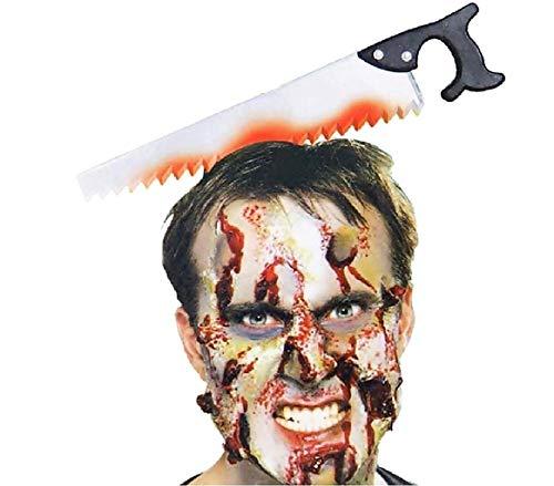 EVRYLON Cerchietto Halloween Zombie Sega Dentata Bambini Ragazzi Uomo Unisex Bambini Ragazzi Effetto Sanguinante Zombi Horror Giochi E Accessori Cosplay per Travestimenti E Costumi Carnevale