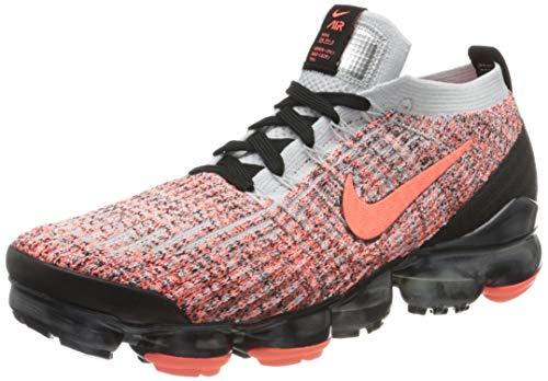 Nike Air Vapormax Flyknit 3, Zapatillas de Atletismo Hombre, Multicolor (Bright Mango/Bright Mango/Pure Platinum 800), 42.5 EU