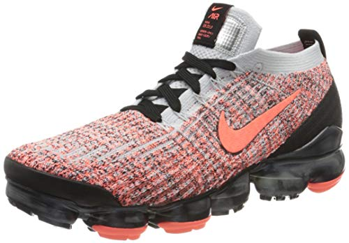 Nike Air Vapormax Flyknit 3, Zapatillas de Atletismo para Hombre, Multicolor (Bright Mango/Bright Mango/Pure Platinum 800), 42.5 EU