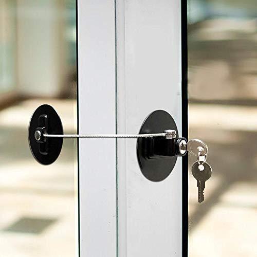 Cerradura de seguridad para niños Cerradura de límite de seguridad con cilindro de llave de acero inoxidable para refrigerador de ventana