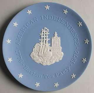 "Wedgwood Blue Jasper American Bicentennial Commemorative Plate ""The Boston Tea Party"""