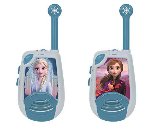 Lexibook Disney Frozen La Reine des Neiges 2 Elsa - Talkies-Walkies numériques portée 2 km, Fonction morse lumineux, Ceinture de rangement, à piles, Bleu