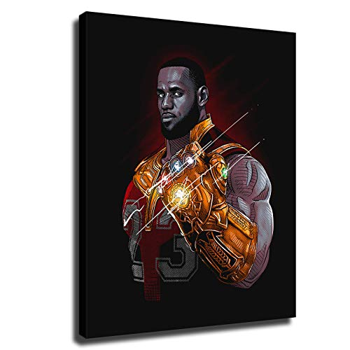 Basketball Poster James Wears Gloves with Unlimited Power Home Decor Paintings (8x10inch,No Framed)