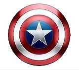 Escudo Capitan America Metal 47Cm Escudo Capitan America Iron Art Shield Accesorios Cosplay Retro Adultos Y Niño Juego Juguete Disfraces Superhéroe Decoraciones B,47CM
