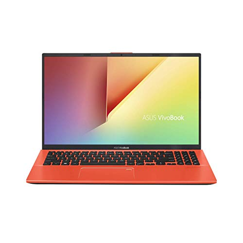 "ASUS VivoBook 15 Thin and Light Laptop, 15.6"" Full HD, AMD Quad Core R5-3500U CPU, 8GB DDR4 RAM, 128GB SSD + 1TB HDD, AMD Radeon Vega 8 Graphics, Windows 10 Home, F512DA-EB55-CL, Coral Crush"