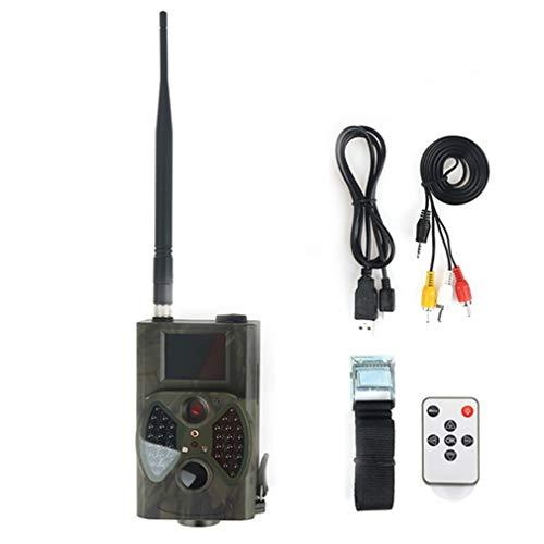 Rsiosle Faune Caméra piège, Chasse GPS Outdoor caméras, 12MP 1080P IP54 Caméra Jeu Trail étanche Surveillance à Distance de Vision Nocturne Infrarouge détection de Mouvement Support MMS GSM Email SMS