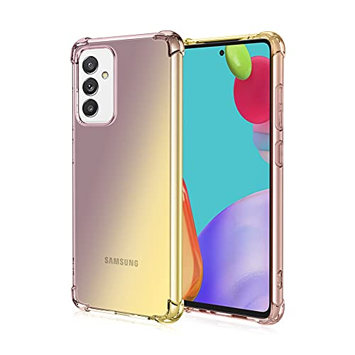 Funda para Samsung Galaxy A82 5G, RonRun Carcasa Ultra Fino Flexible Gradiente Transparente TPU Anti-arañazos Antigolpes Carcasa para Samsung Galaxy A82 5G Oro/Negro