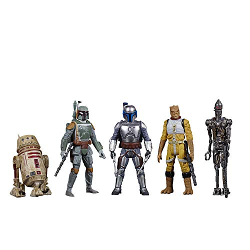 Star Wars Celebrate The Saga Toys Bounty Hunters Figure Set, 3.75-Inch-Scale Collectible Action Figure 5-Pack, Toys for Kids Ages 4 and Up