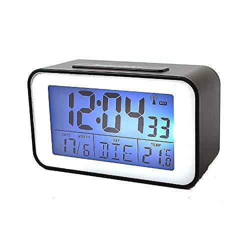 Soytich Reloj con Termómetro Despertador, Reloj Despertador en Negro (SN4491s)