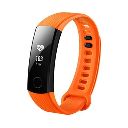 HUAWEI Honor3 - Orologio da polso per fitness, con monitoraggio remoto e cardiofrequenzimetro, Bluetooth, impermeabilità IP67, colore: arancione