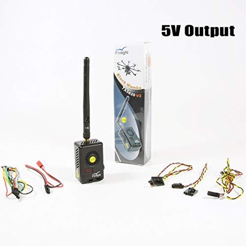 Flysight Black Mamba 2Watt 2000mW Long Range Audio Video Transmitter 5.8 ghz 40CH FPV Vtx for Gopro FPV Video Transmitter 5V Output (RPSMA ANT 5V Out for Gopro)