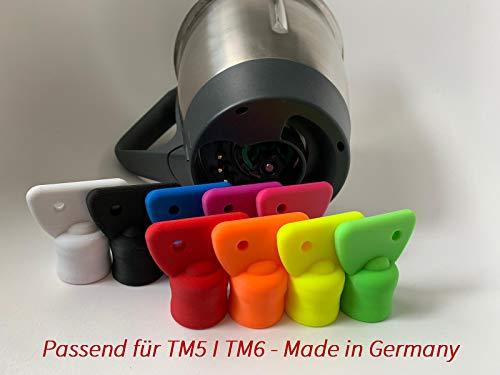 3DJ Teigblume Drehhilfe passend Thermomix TM5 I TM6 Thermomix Zubehör (Orange)