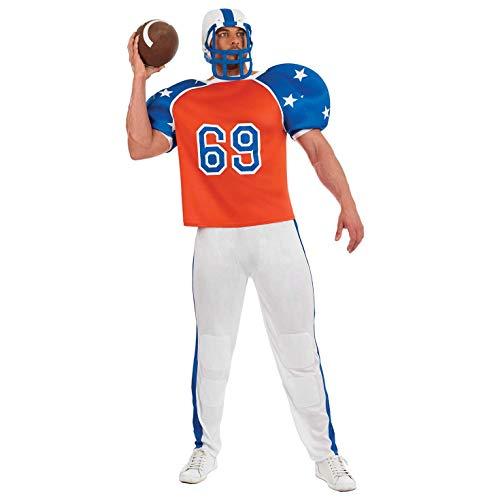 Fun Shack Rosso Giocatore di Football Americano Costume per Uomini - Medium