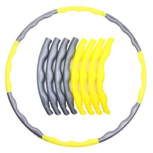 Best Buy! Luckkyme Hula Hoop for Kids and Adults, 32 Inch Adjustable Size Plastic Hola Hoops Rings f...