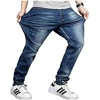 NOBRAND Jeans para hombre, talla grande, elástico, pantalones largos Azul azul 56 ES