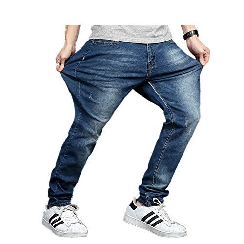 NOBRAND Jeans para hombre, talla grande, elástico, pantalones largos