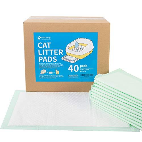 "Petfamily Cat Litter Box Pads-Generic Refill for Tidy Cats Breeze Litter System,Litter Box Pads 16.9"" x 11.4""-40 Count"