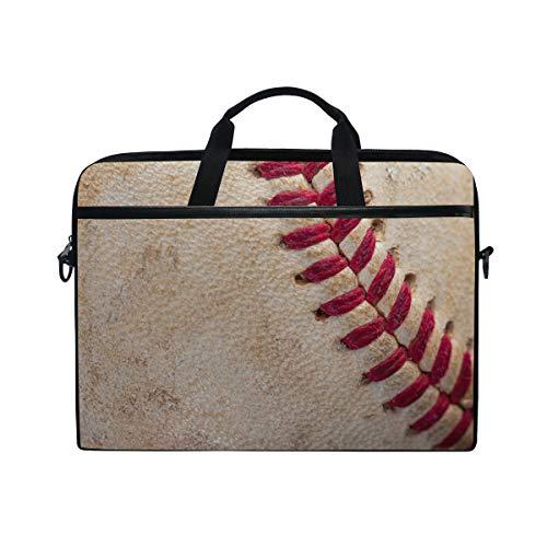 AGONA Vintage Baseball with Red Seams Laptop Shoulder Messenger Bag 15 inch Case Sleeve for 14 Inch Laptop Case Laptop BriefcaseCompatible Notebook Ultrabook Chromebookfor Men Women