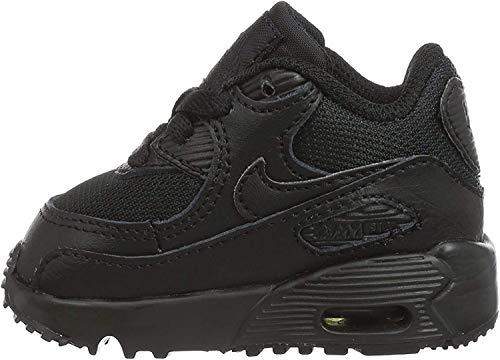 Nike Unisex barn Air Max 90 Mesh (Td) löparskor, svart - 26 EU