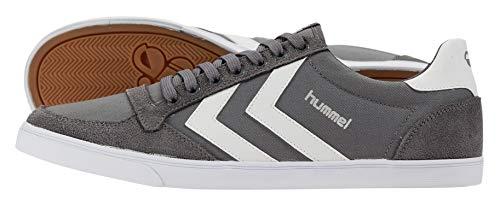 hummel Unisex-Erwachsene Slimmer Stadil Low Sneakers, Grau (Castle Rock/White KH), 48 EU (12.5 Erwachsene UK)