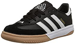 Black and White adidas Performance Kids Samba Indoor Soccer Cleat