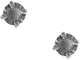 Swarovski Men's Sleek Ohrstecker, grau, rhodiniert, Größe: 0,62x0,62 cm, 5571555