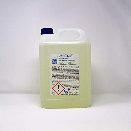 ECOBOLLE Detersivo per Lavatrice Muschio Bianco, Super Profumato Concentrato (10KG)