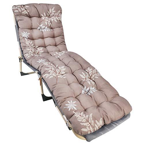 Kulungile Almohadillas de repuesto gruesas para tumbonas, tumbonas reclinables, para viajes, vacaciones, jardín, interior y exterior (sin silla)