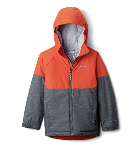 Columbia Boys Alpine Action Ii Jacket, Grill Heather, State Orange, Large