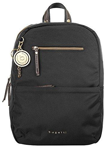 bugatti Contratempo Nylon Rucksack für Damen - edle Tasche in schwarz