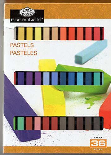 Royal & Langnickel Essentials 36 Soft Square Sketching Pastels Assorted Colours CPH-A36
