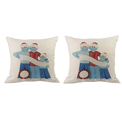 Fineday Home Christmas Decor Cushion Cover Survived Family Pillowcase Throw Pillow Cover, Home Decor for Christmas Day (A)
