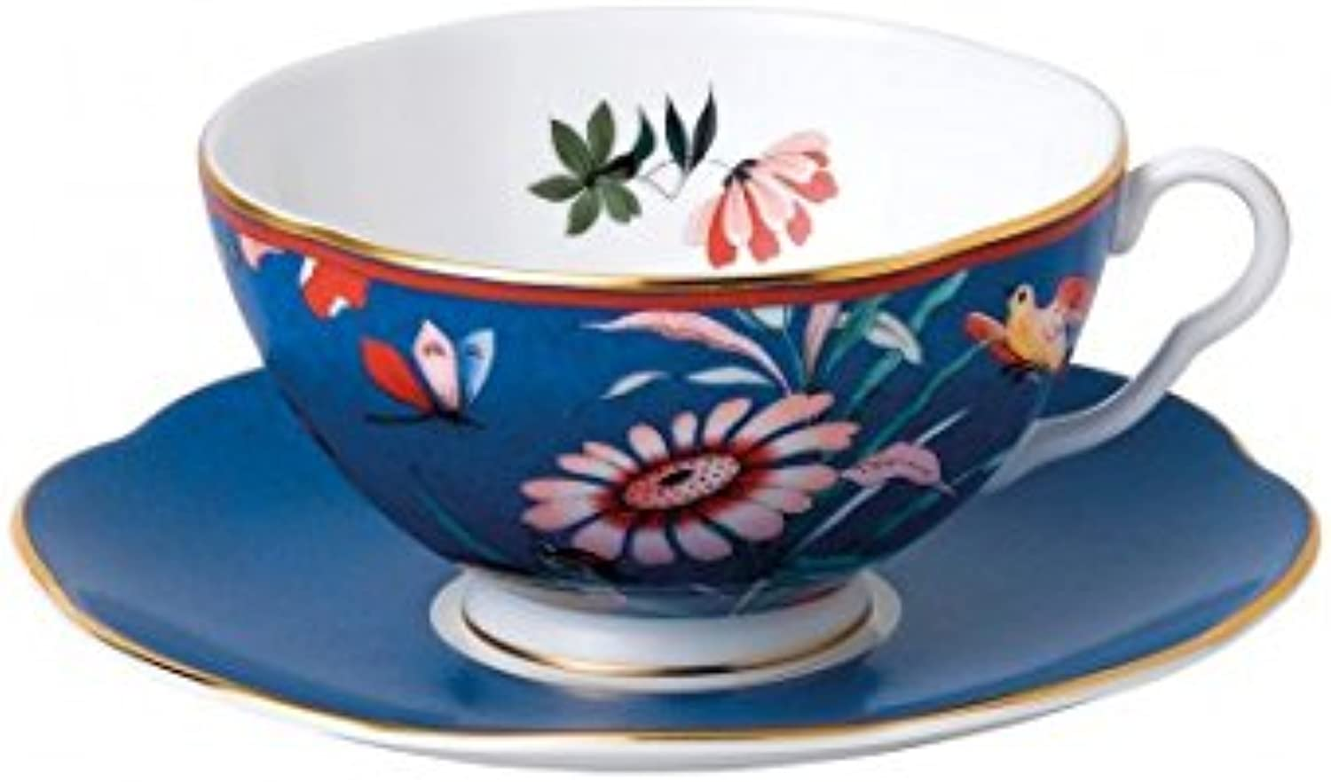 Wedgwood Paeonia bluesh Teacup & Saucer Set bluee