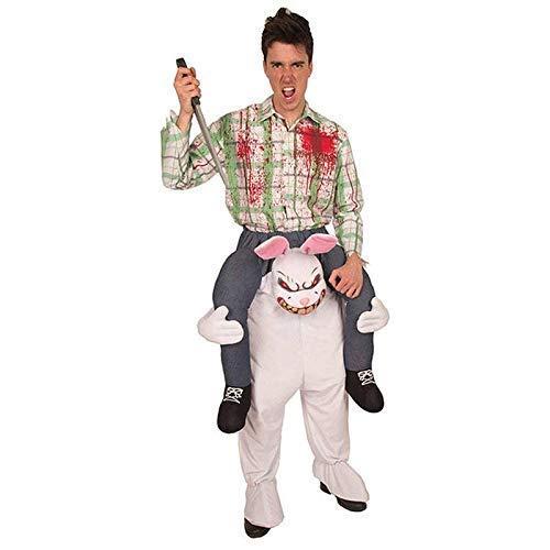 Lively Moments Reitkostüm / Aufsitzkostüm Killer Kaninchen / Huckepack Kostüm Halloween / Reiterkostüm Hase