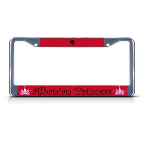 Fastasticdeals Albania Albanian Princess License Plate Frame Tag Holder Cover