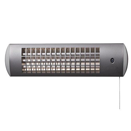XIMAX Infrarotstrahler Terrassenheizung Heizstrahler ohne Ventilator IP24, Silber/Grau, 1800 Watt, 42022 - 2