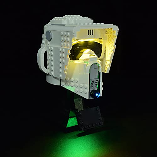 SEREIN Juego de iluminación LED para casco Lego 75305 Star Wars Scout Trooper de Lego, compatible con modelo de construcción 75305 (sin set Lego)