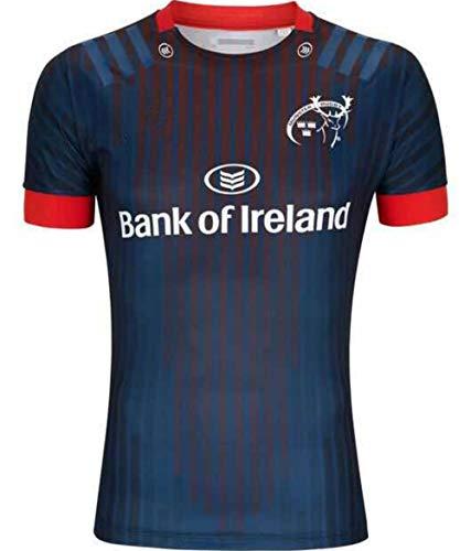 Munster,2019, Auswärts Edition, Rugby-Trikot, Neue Stoff Bestickt, Swag Sportswear (Marine Blau, L)