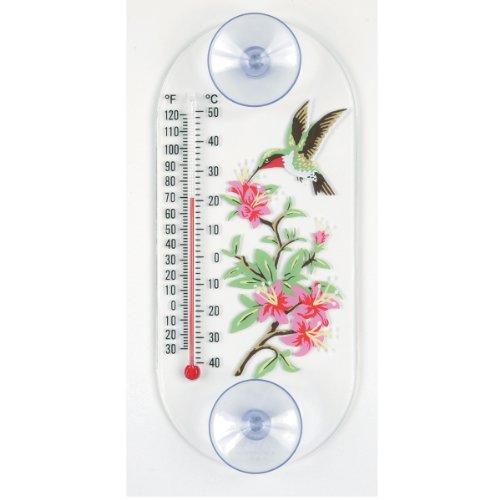 Aspects 192 Hummingbird in Azalea Window Thermometer