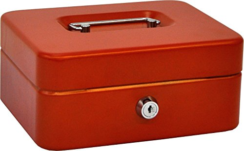 Olle B200R Cash Box met verwijderbare lade kleur, rood, medium